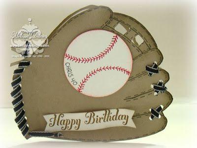 Awesome baseball glove birthday card!