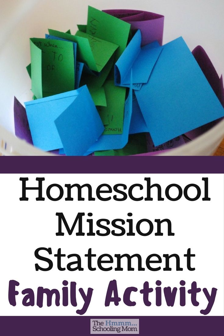 Creating a homeschool mission statement is a great way to keep your family true to their vision of homeschooling. Because, Life.