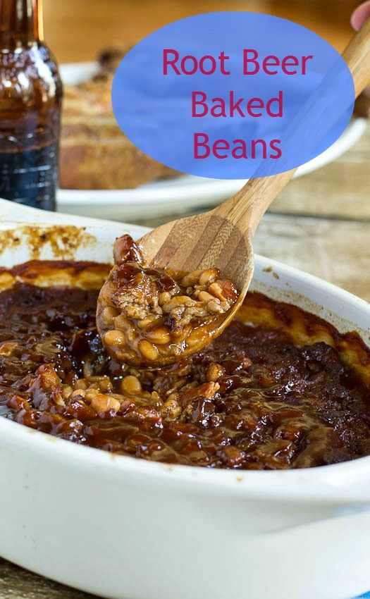 Thick and hearty baked beans flavored with root beer, bacon, barbecue ...