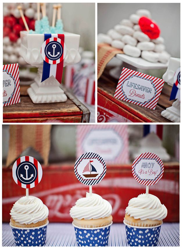 Ahoy Itu0027s A Boy Baby Shower {Guest Feature