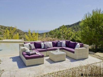 27 best salons de jardin lounge images on pinterest bar chairs corner dining nook and lounge. Black Bedroom Furniture Sets. Home Design Ideas