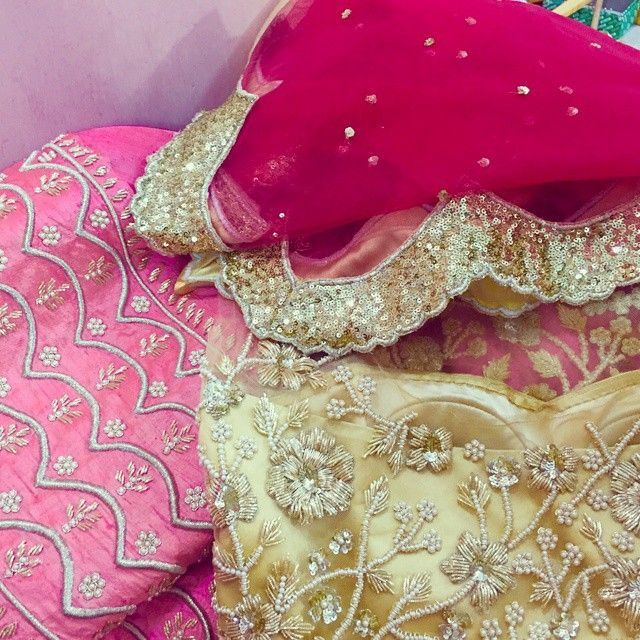 Instagram media by zardozi_couture - A sneak peak of a custom engagement lengha for one of my sweetest client!  Inspired by Anushree Reddy and my client.  Stay tuned for her final look! Located in Brampton  Please call or whatsapp for any inquiries at 4169102592