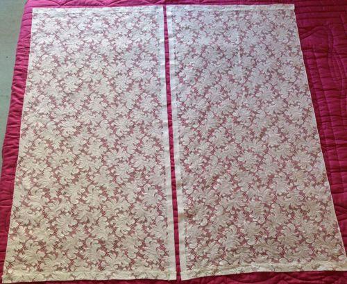 Paire-petits-rideaux-ourlets-passe-tringle-blancs-motif-floral-60-x-118-qualite