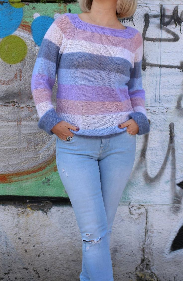 Mehrfarbiger Mohairpullover Rainbow Mohair Pullover Knit | Etsy   – MOHAIR WORLD CLOTHING