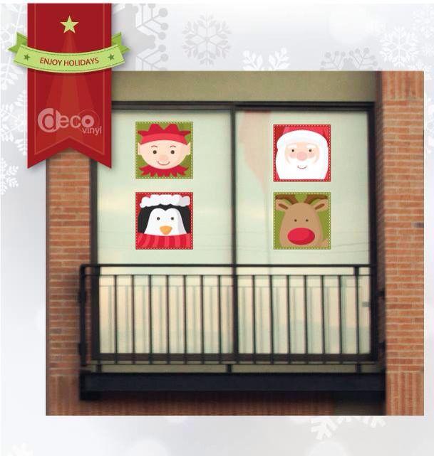 Vinilo Decorativo Ref: Caritas Navidad