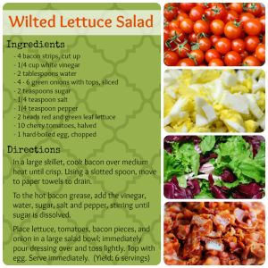 wilted lettuce salad recipe printable