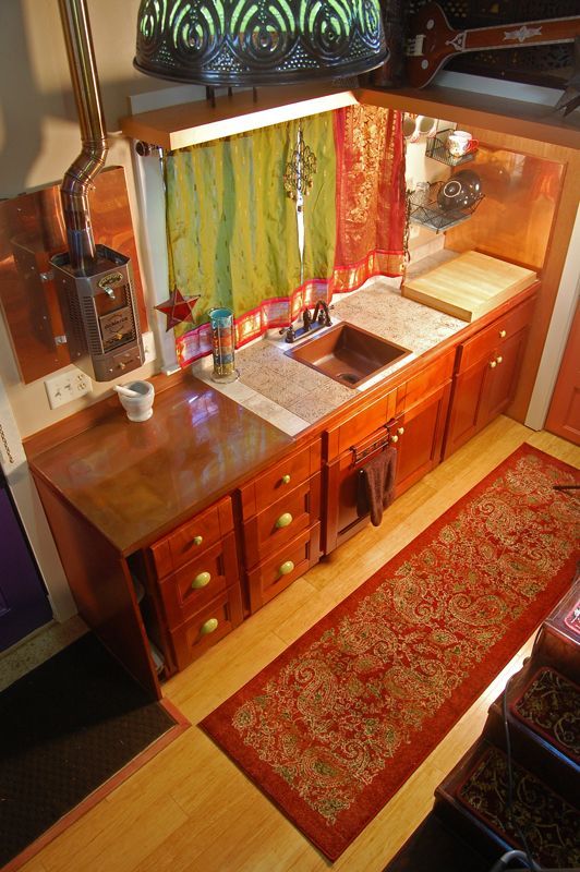 Tiny House on Wheels - Savor - kitchen from above
