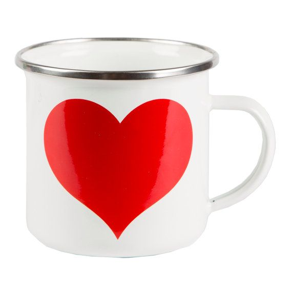 SWEETHEART ENAMEL MUG - Sass & Belle  Dimensions - 7.7 x 8 cm Material - Carbon Steel, Enamel Coating, Stainless Steel Rim Colour - White/Cream, Red   Who loves a good cuppa? Why not tell your brew how you feel with Sass and Belles Sweetheart enamel mug. Give a perfect gift to young or old with this retro feel mug. It has bags of style and is practical too.  Follow me on Facebook, Twitter and Instagram @EmaykaysHappyPlace