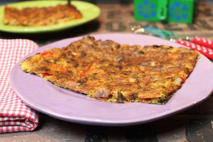 Low Carb Rezepte von Happy Carb: Schüttelpizza Bärlauch-Thunfisch.
