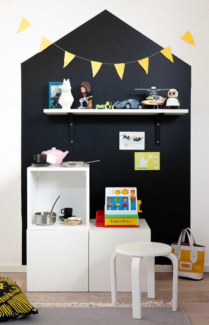blackboard walls and chalkboard ideas for kids' rooms