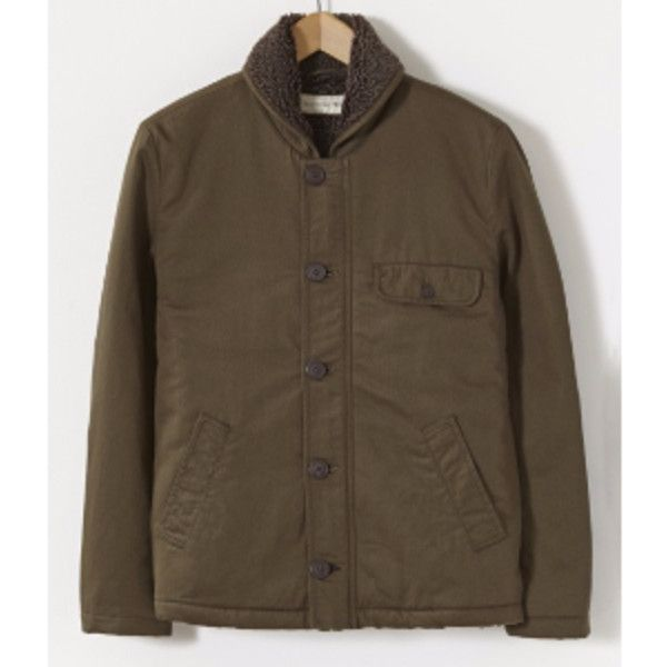 N1 Jacket In Military Green Twill ($245) ❤ liked on Polyvore featuring men's fashion, men's clothing, men's outerwear, men's jackets, mens military style jacket, mens military jacket, mens green military style jacket, mens twill jacket and mens olive green jacket