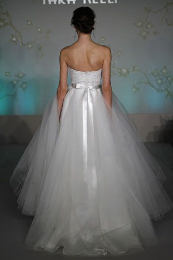 tara keely wedding gowns | ... lace beads emboridered tulle ballgown wedding dress Tara Keely tk2051... I like minus the ribbon. Blingy belt would be better