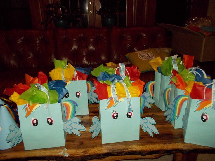 Rainbow Dash Goodies Bags I Designed Goody Bag Ideas