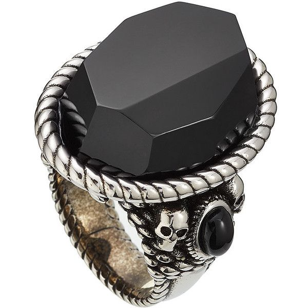 Alexander McQueen Knot Ring ($675) ❤ liked on Polyvore featuring men's fashion, men's jewelry, men's rings, multicolored, mens celtic knot rings, mens skull rings, mens oversized rings and mens stone rings