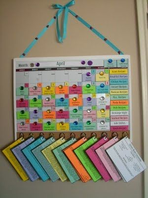 Plan out your meals with a Menu Board. I dream of being this organized!!!