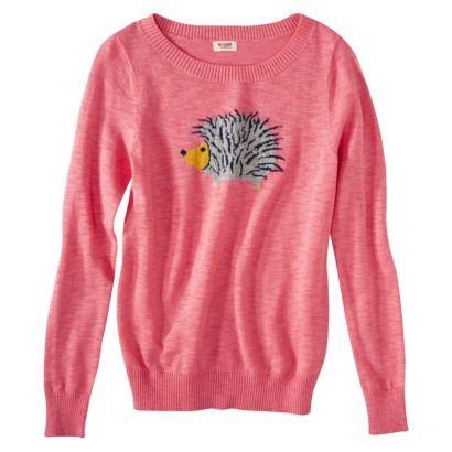 Mossimo Supply Co. Juniors Long Sleeve Hedgehog Sweater