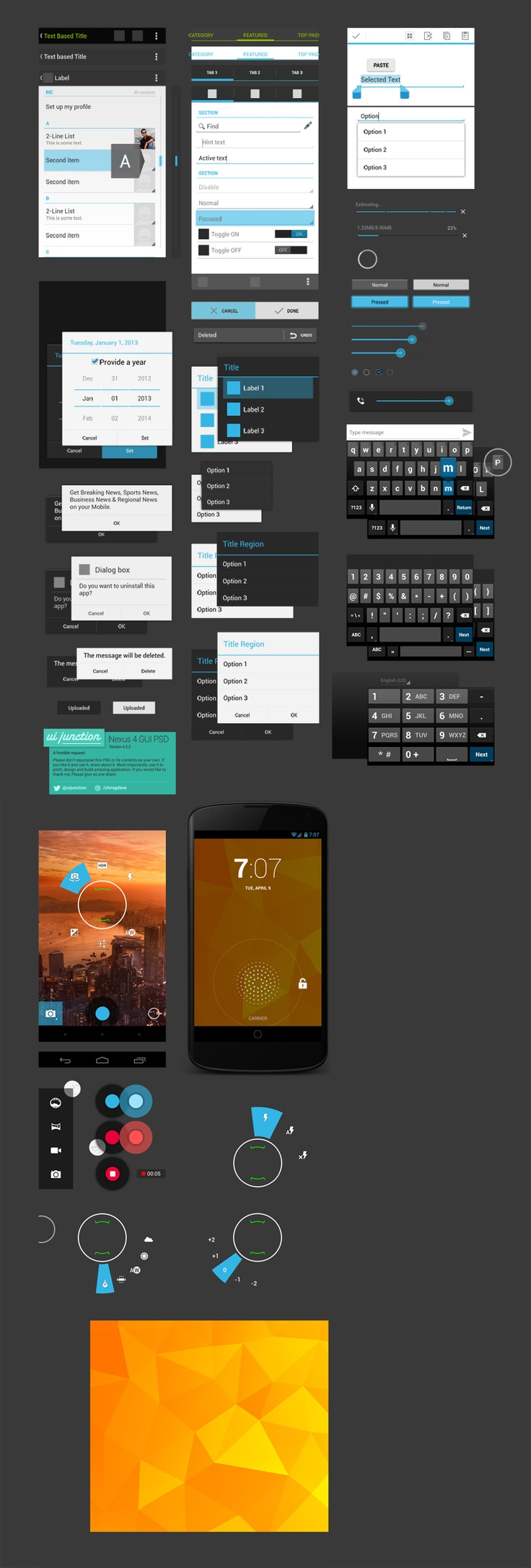 Free Nexus 4 GUI