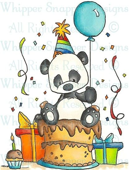 Party Panda - Birthday Images - Birthday - Rubber Stamps - Shop