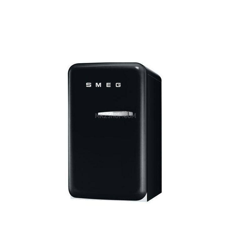 Smeg Minibar Stand-Kühlschrank FAB5LNE1 Scharnier links Schwarz