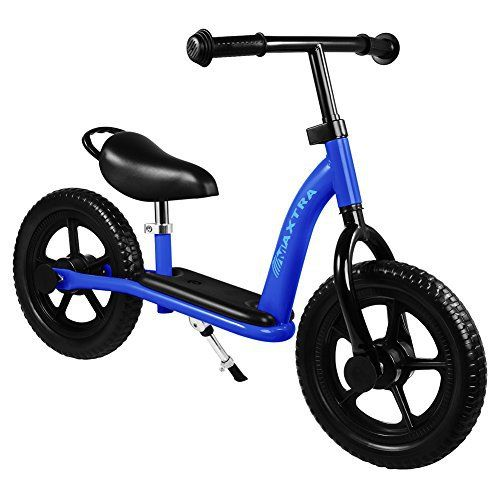 Why choose Maxtra balance bike? 1.Safer:When little child is riding the Maxtra balance bike, feet are always on the ground. Because there are no pedals, kids scoot themselves along, constantly balancing on their legs. Children do not have to fear when they are on a balance bike because they can... more details available at https://perfect-gifts.bestselleroutlets.com/gifts-for-babies/kids-bikes-accessories/product-review-for-maxtra-12in-lightweight-adjustable-kids-training-bal