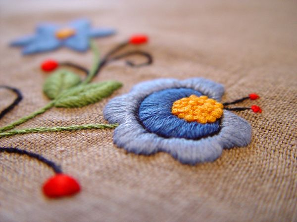 Polish traditional embroidery