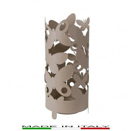 BUTTERFLY - Porta ombrelli, tagliato al laser, con struttura in metallo verniciato.