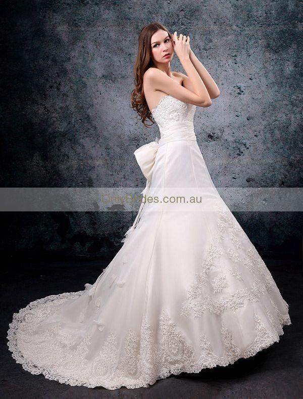straight wedding dresses | Straight Neckline Trumpet Wedding Dress WG-0001 - 01.Wedding Dresses ...