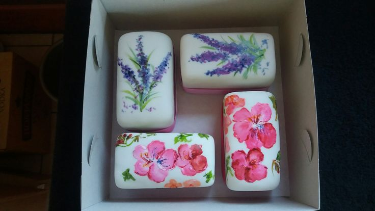 Baby fruit cakes with pretty hand-painted flowers. The ideal gift for that special friend!