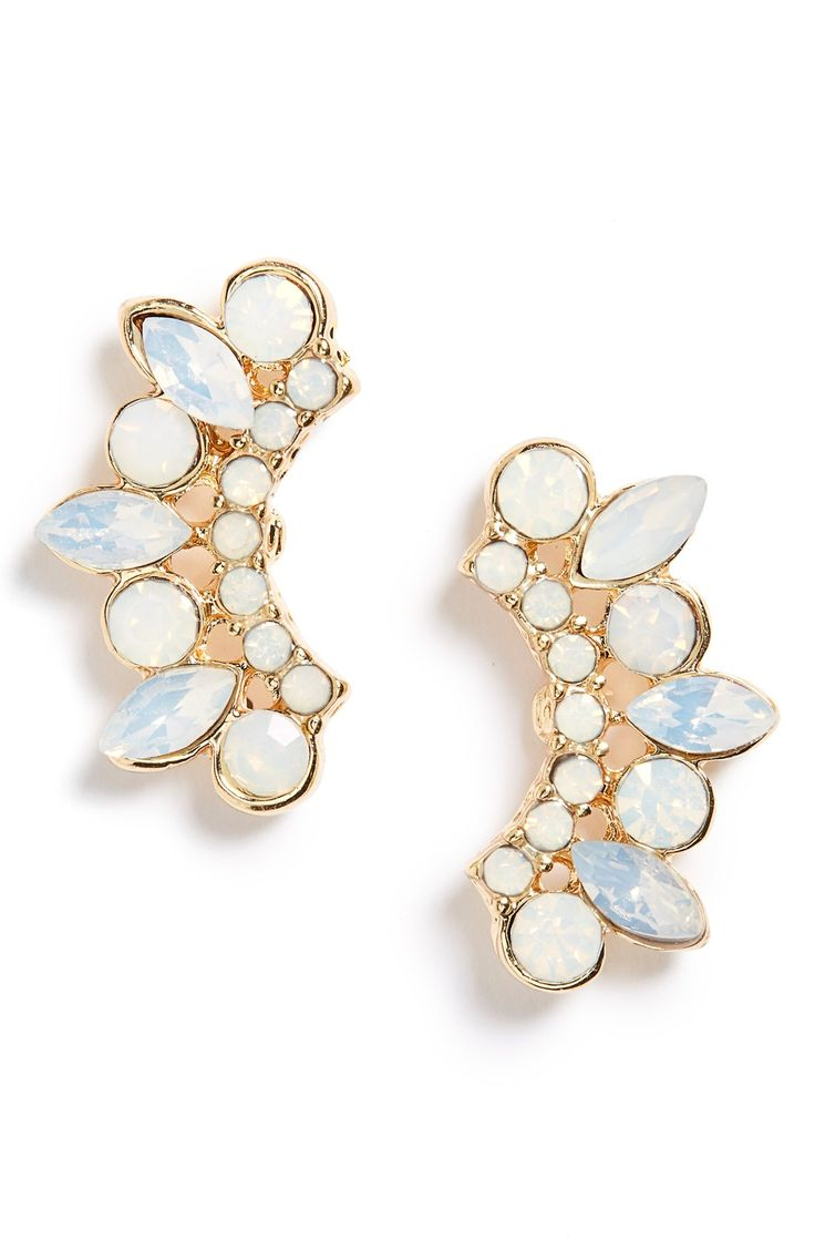 Add a bit of glam to any look with these ear crawlers from Sole Society! The opalescent crystals add such rich luster.