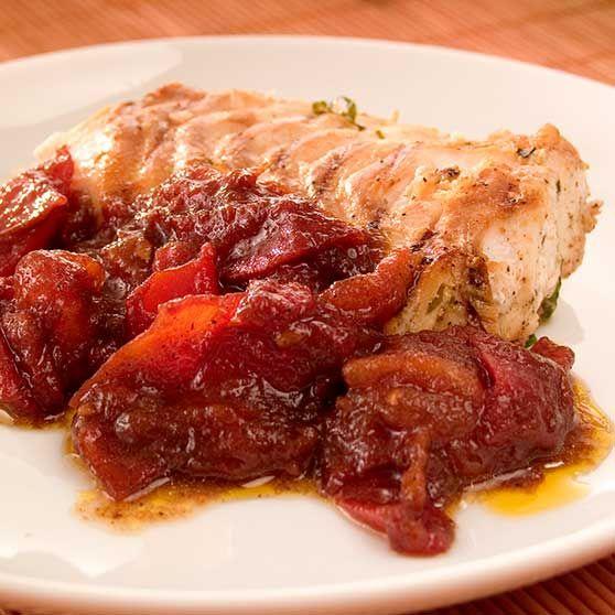 Tomatsauce til grillet kød