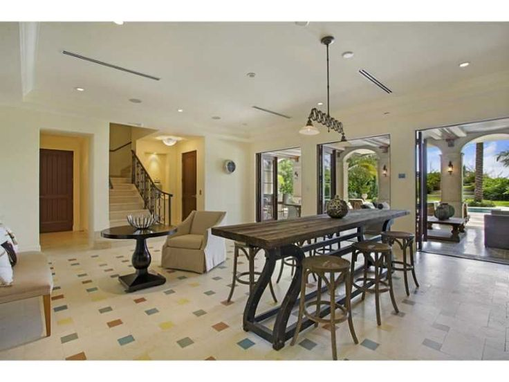 A Long And Narrow Dining Room Table Miami Beach FL Coldwell Banker Residential Real