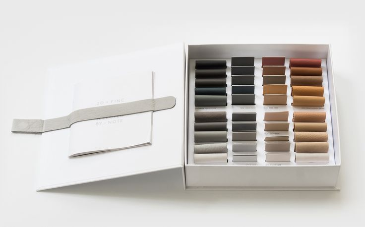 Our Sorensen Leather 20 x Colour Box with samples of our new natural colours and their corresponding NCS colour codes – curated by Note Design Studio. A tactile tool to inspire architects, designers, stylists and anyone working with design.