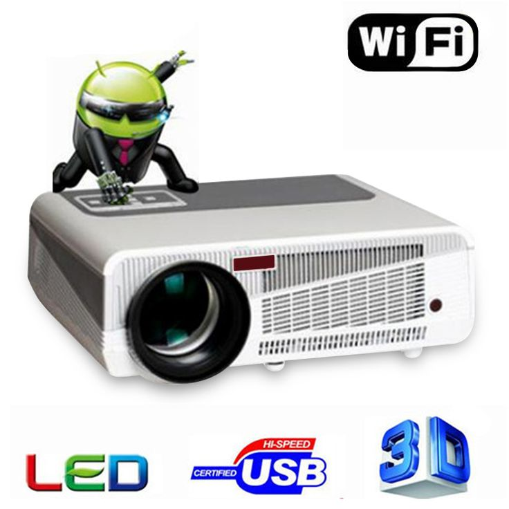 5500Lumens LED-86+ Android 4.4 Full HD Bluetooth LCD 3D WIFI Projector 200inch Projection Enjoy Home Cinema Wireless Phone