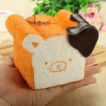Only US$4.99, buy best Squishy Toy 8 Seconds Slow Rising Super Soft Cute Fragrance Reality Touch Bear Toast Bread Decor sale online store at wholesale price.US/EU warehouse.