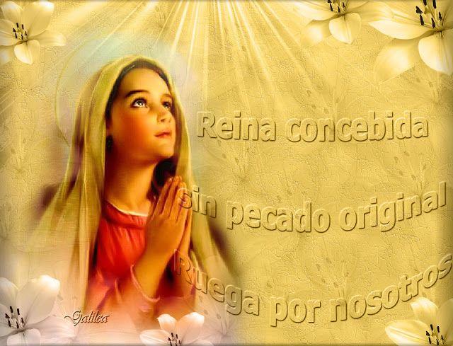 VIRGEN MARÍA, RUEGA POR NOSOTROS : MAYO, MES DE MARÍA - DÍA 27 - REINA CONCEBIDA SIN ...