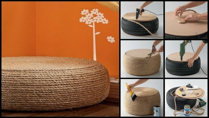 DIY Tire Ottoman - The Owner-Builder Network