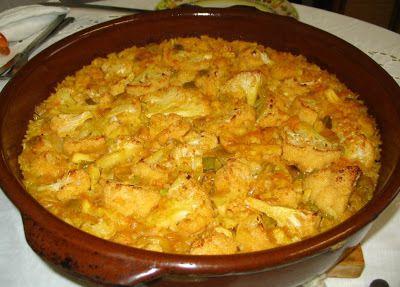 ARROZ AL HORNO DE BACALAO Y COLIFLOR - http://www.mytaste.es/r/arroz-al-horno-de-bacalao-y-coliflor-11602331.html