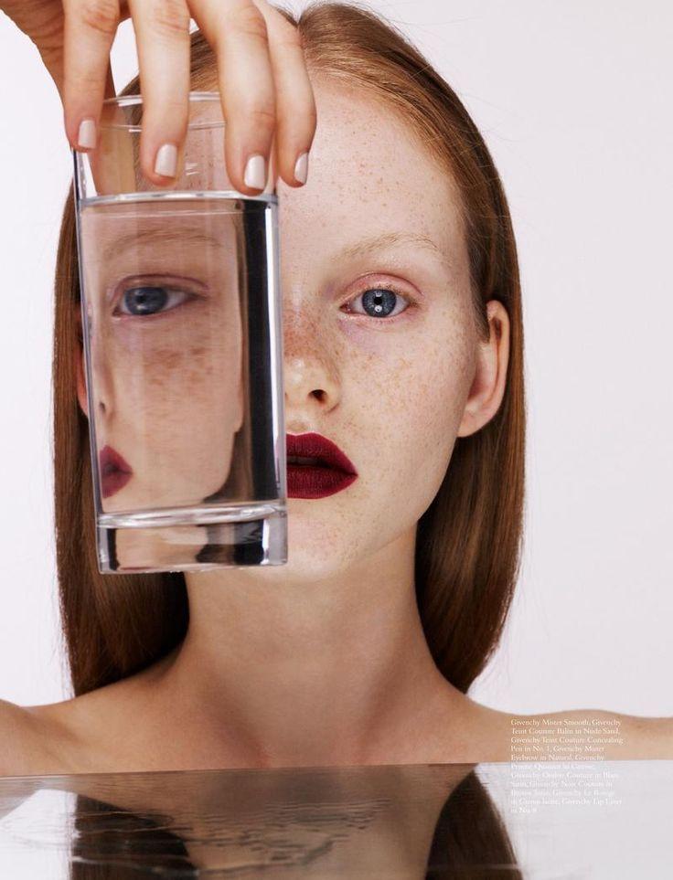 Magazine: Wonderland Magazine September 2015 Beauty Editorial: Stain-Glass Masquerade - Givenchy Photographer: Felicity Ingram Model: Emma Laird Hair: Anna Cofone Makeup Artist: Elias Hove