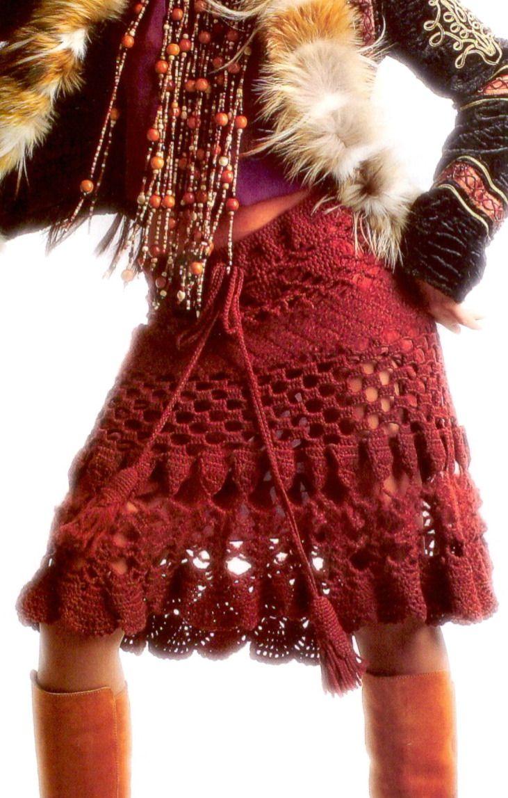Patrizia Pepe Crochet Skirt