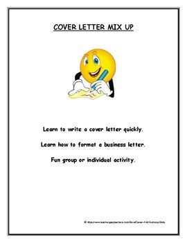 Cover Letter Mix Up Is A Fun Activity To Help Students Learn How Write