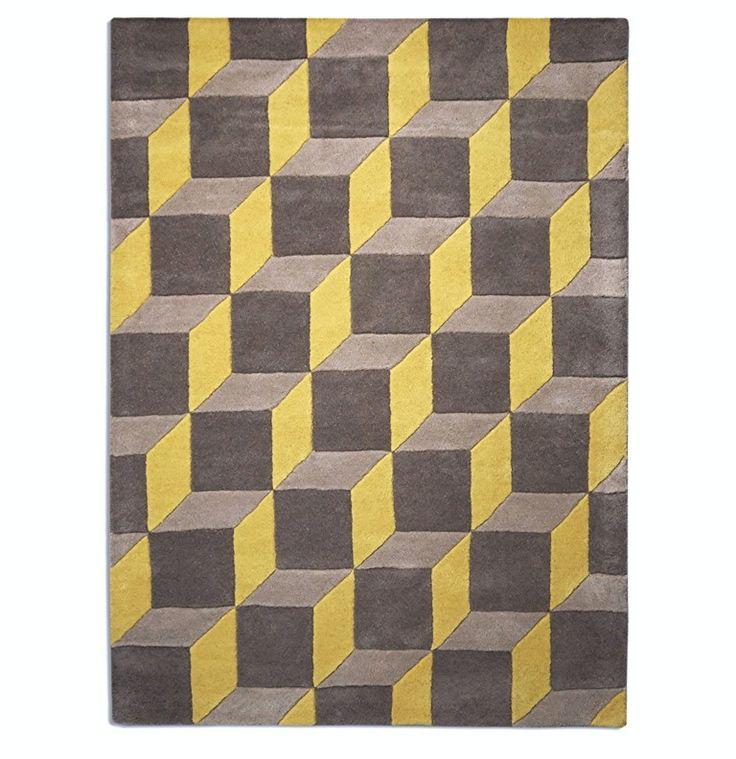 geometric geo07 yellow / grey image 1