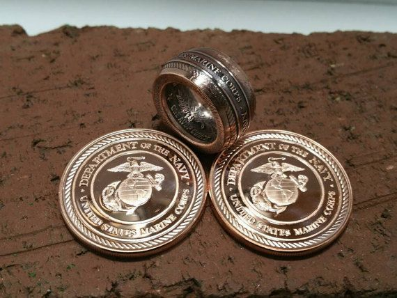Check out this item in my Etsy shop https://www.etsy.com/listing/266210804/us-marine-corps-ring-hand-forged-999
