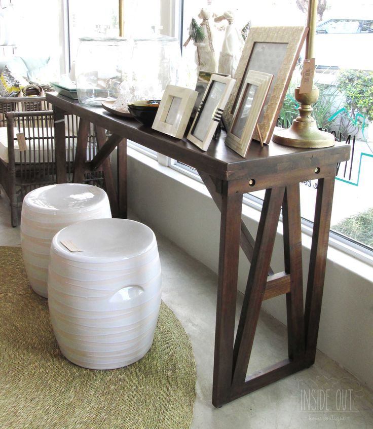 In Stock - Teak Console Table - 1500 x 450 x 770mm - Inside Out Home Boutique - Please check stock availability