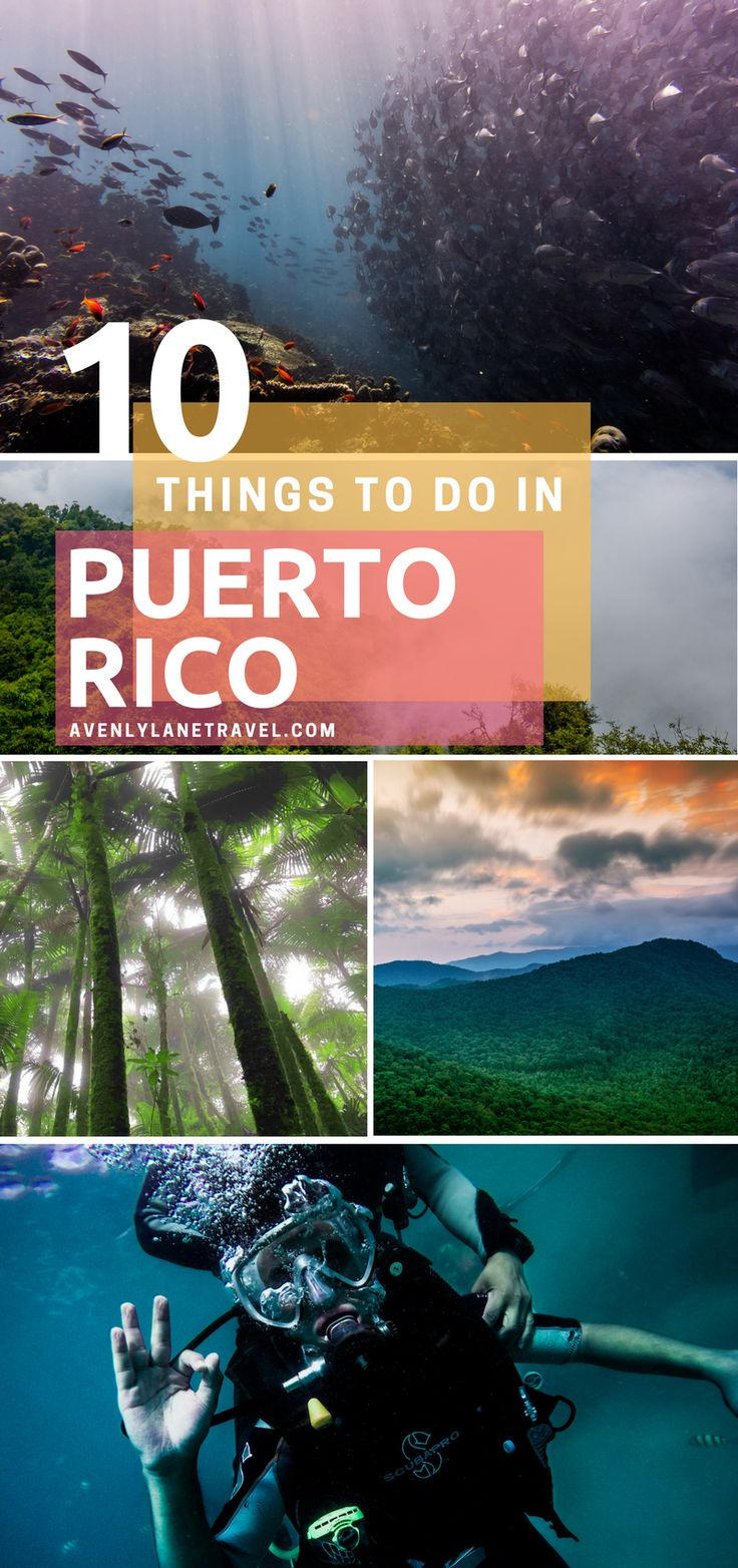 Puerto Rico is one of the easiest places to get to from the United States as well as one of the most beautiful! Click through to see what you can't miss while visiting the island on Avenlylanetravel.com #islands #puertorico #beaches