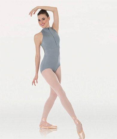 Body Wrappers Tiler Peck Designs P1002 Power Mesh Zip Front Leotard