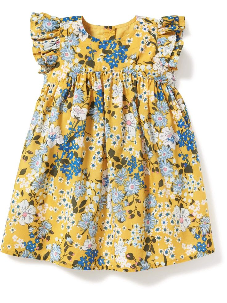 Floral-Print Flutter-Sleeve Dress for Baby | Old Navy