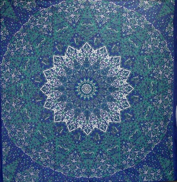 Bedspreads – Indian Mandala Tapestry Bedcover Beach Throw – a unique product by LindasJewelryStuff on DaWanda