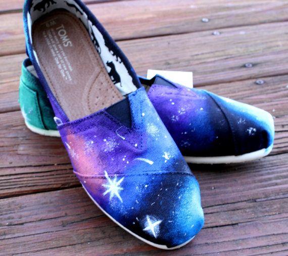 Galaxy TOMS by KillerKicks23 on Etsy, $90.00