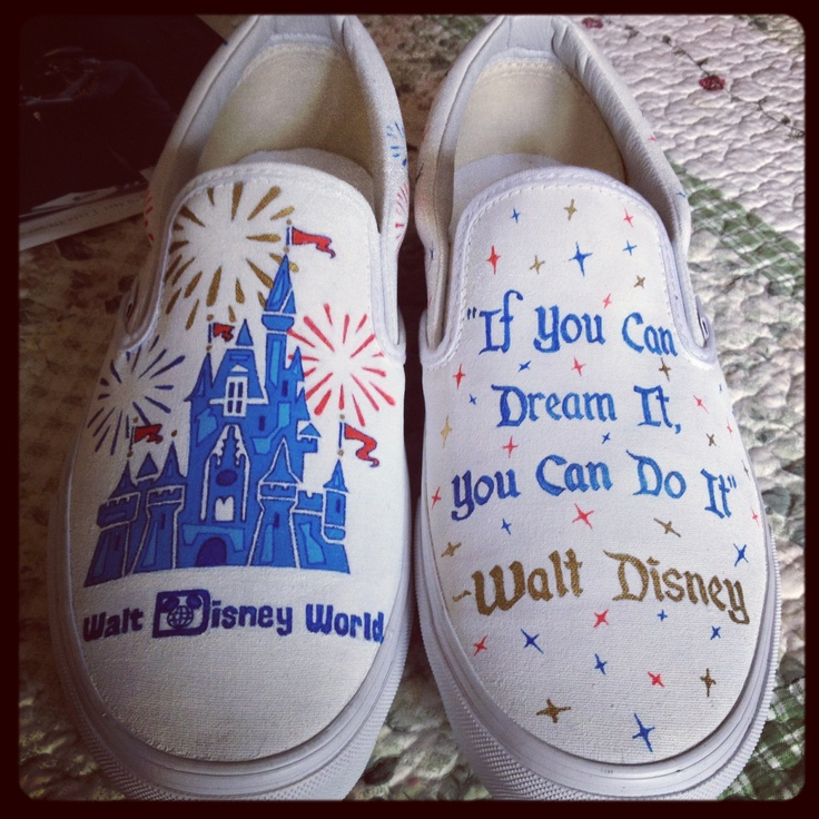 My Disney shoes that I designed and my friend painted for me!