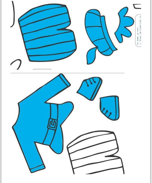 Pietenspel kleren blauw